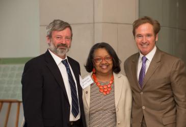 Dr. Alexander Karatayev, President Katherine Conway-Turner, and Congressman Brian Higgins.