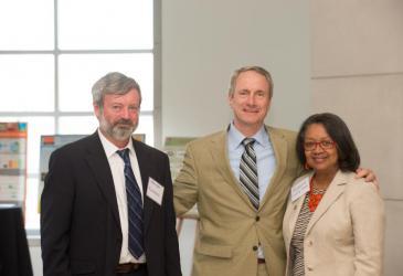 Dr. Alexander Karatayev, Assemblyman Sean Ryan, and President Katherine Conway-Turner.