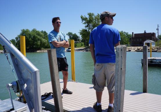 Chris and Steve on the dock
