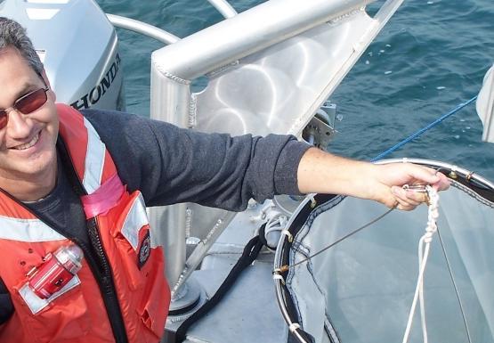Mark takes some zooplankton samples