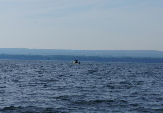 A fishing boat on the water