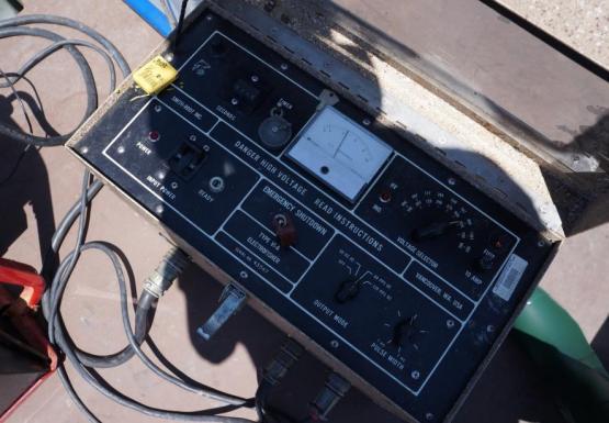 Electroshocking unit controls