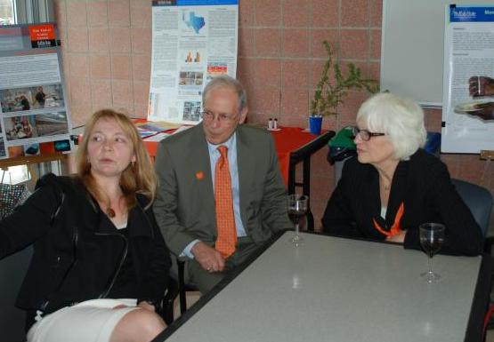 Lyuba, interim president Cohen, and Mrs. Cohen