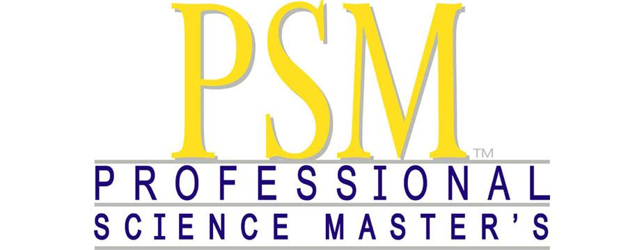 logo text: PSM Professional Science Master's