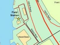 map showing the location of the field station