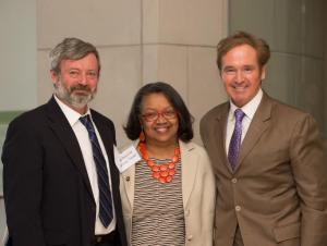 Dr. Karatayev, President Katherine Conway-Turner, and Congressman Brian Higgins