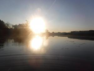 Sunrise over a creek