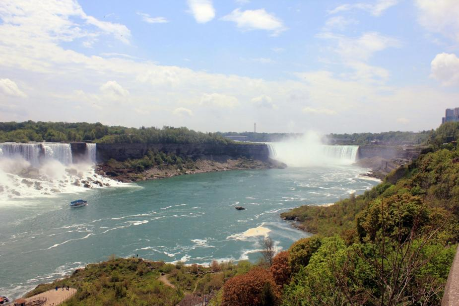 view of two large waterfalls